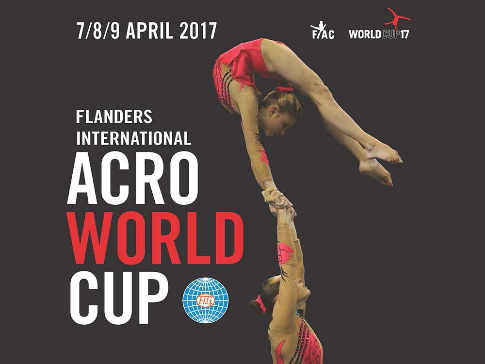Akro-Team am Flanders International Acro Cup (FIAC) 2017