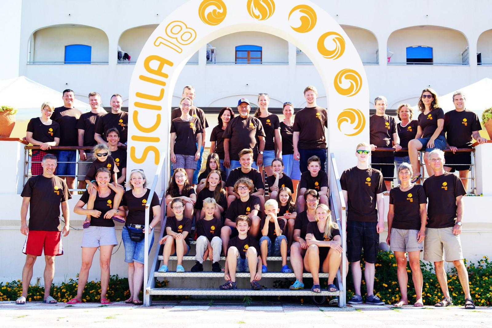 Volleyballtrainingslager Sicilia 2018 im Sonnenschein