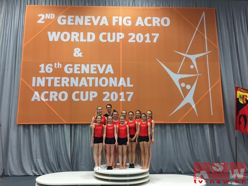 Geneva International Acro Cup 2017 mit Medaillen